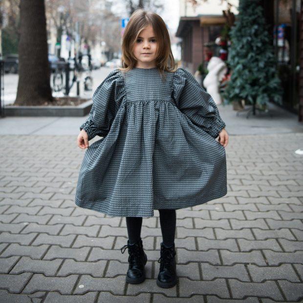 Празнична рокля графит