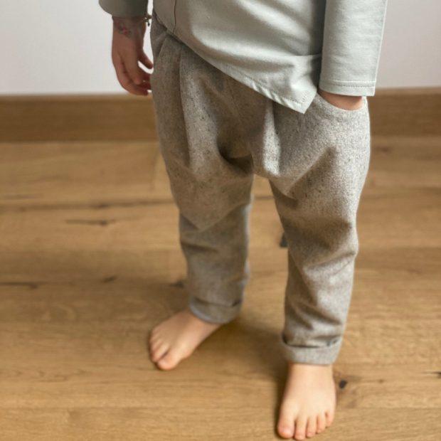 Сив вълнен панталон