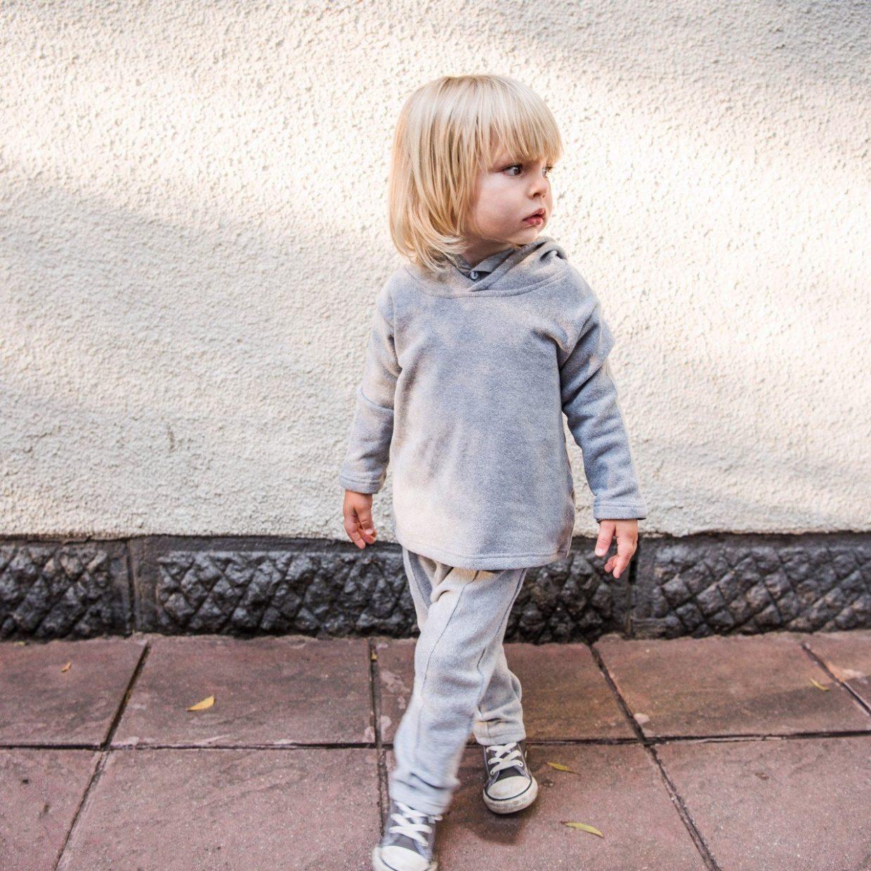 grey fine-knit pants