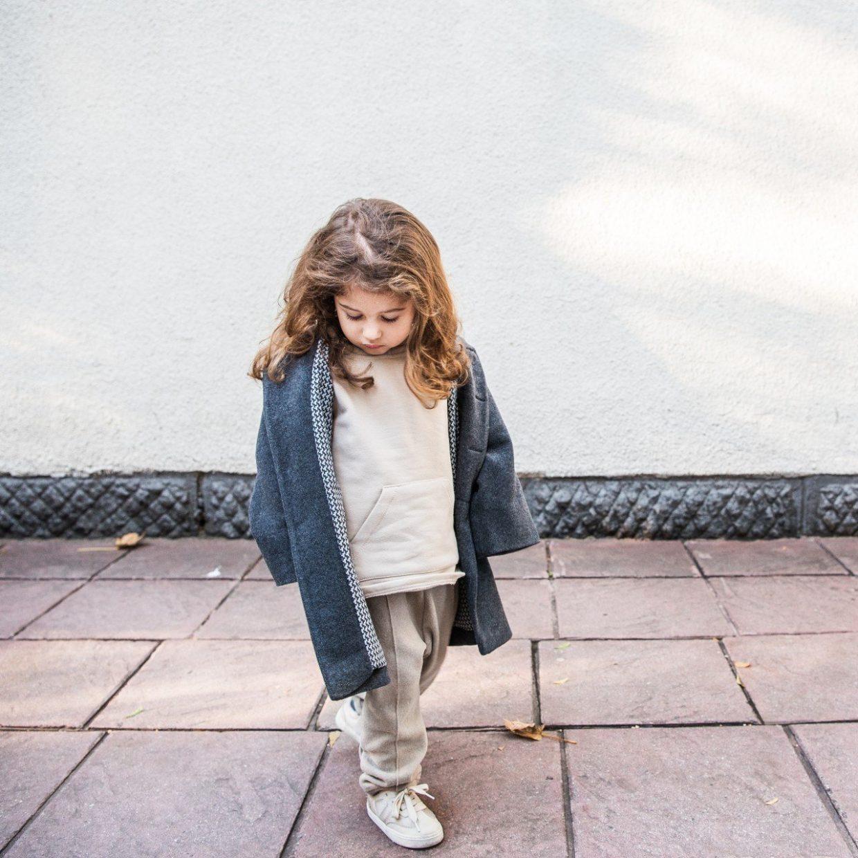 almond fine-knit pants