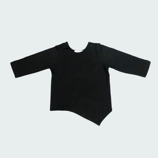 Черна блуза оригами