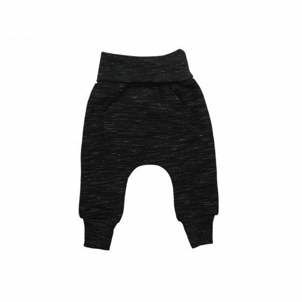 Бебешки панталон черно меланж