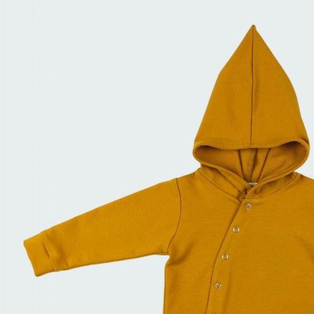 Бебешки суичър златно жълто