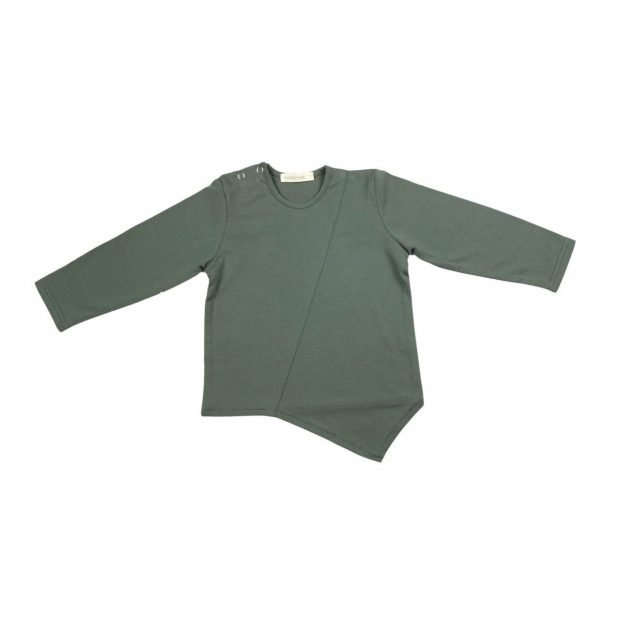 Блуза оригами маслина