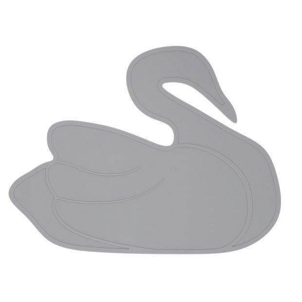 Сива подложка лебед от силикон By Lille Vilde