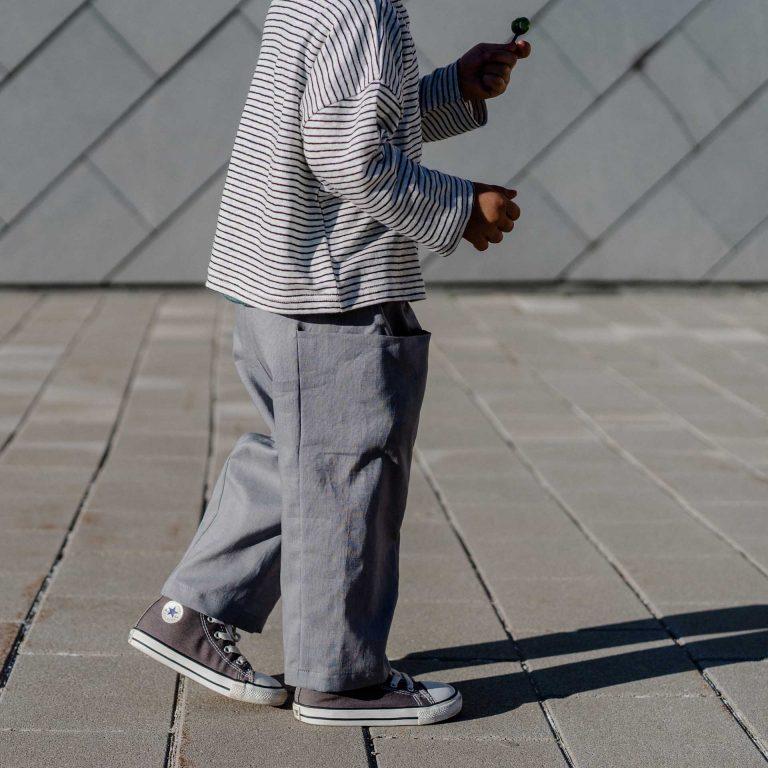 Ленен панталон с джоб